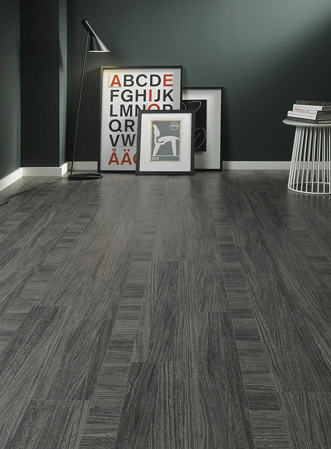 Dark Grey Wood Tile Floor